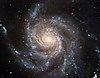 A Messier 101 lapjáról látszó spirálgalaxis