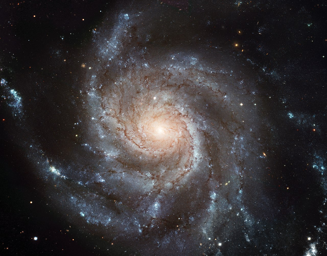 M101 - The Pinwheel Galaxy in Ursa Major. Credit: ESA/NASA/Wikimedia Commons