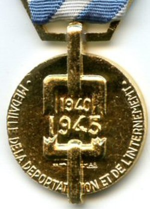 Political deportation and internment medal - Reverse of the Political deportee's and internee's medal