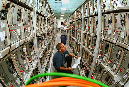 Technicians working on a large Linux cluster at the Chemnitz University of Technology, Germany MEGWARE.CLIC.jpg
