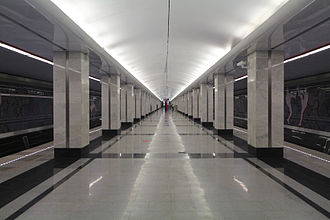Spartak (Moscow Metro) - Image: MM TKL Spartak 2014 08 30 by Andrey Yurtaev (no exit dot org)