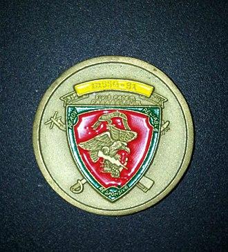 "Si vis pacem, para bellum - ""Si Vis Pacem Para Bellum"" on MSSG-31 Challenge coin"
