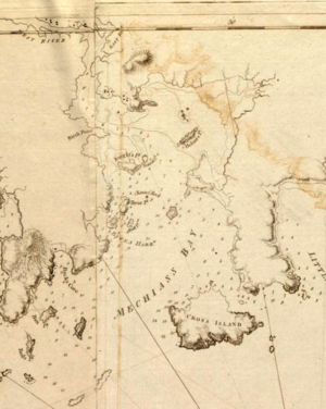 Battle of Machias - Image: Machias Bay 1776