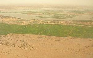 Ségou Region - Farms, sahel, and riverine marsh near Macina, Ségou Region