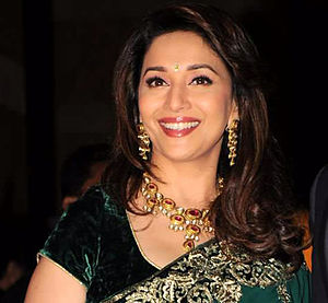 Madhuri Dixit - Dixt at a promotional event for the film Devdas in 2002