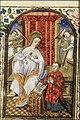 Madonna - Mary enthroned, holding the Christ-child, with Simon de Varie kneeling before her - Book of Hours of Simon de Varie - KB 74 G37 - 001r min.jpg