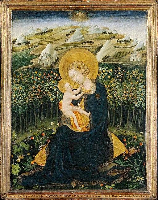 Giovanni di Paolo, Madonna dell'Umiltà, 1435 circa, tempera su tavola,Altezza: 61,9 cm x 48,9 cm, Museum of Fine Arts, Boston