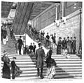 Madrid, nuevo Ateneo, aspecto de la escalera principal, en la noche del 31 de enero último, en que fue inaugurado el edificio, dibujo del natural por Alcázar.jpg