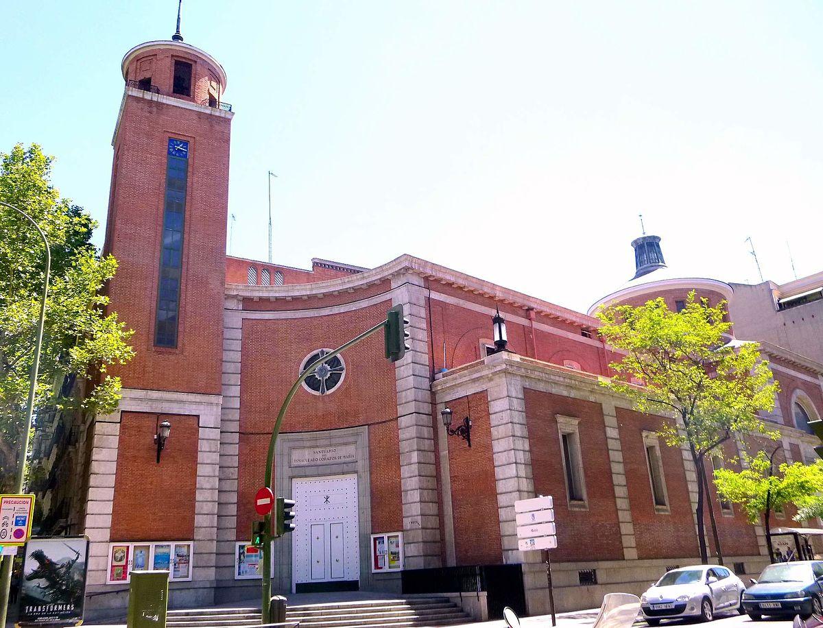 Iglesia santuario del inmaculado coraz n de mar a wikidata for Biblioteca iglesia madrid