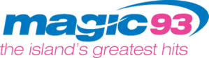 "CHLQ-FM - Former CHLQ logo as adult contemporary/classic hits ""Magic 93"""