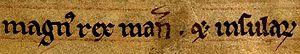 Magnús Óláfsson - Image: Magnús Óláfsson, King of Mann and the Isles