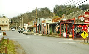 Lynchburg, Tennessee - Shops along Main Street