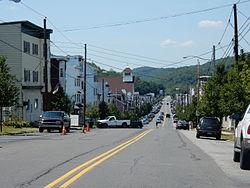 Ĉefstrato en Girardville