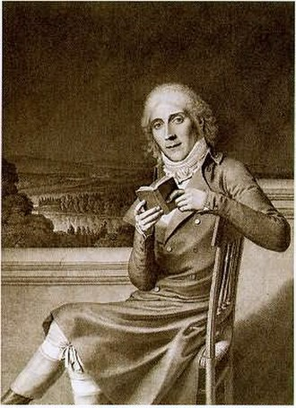 Maine de Biran - Portrait of Maine de Biran, by Jean Bernard Duvivier, 1798.