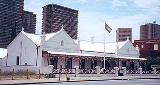 Kruger House, Pretoria - Kruger House. A view from Church St, Pretoria, in 1998