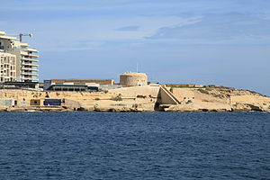 Polygonal fort - Fort Tigné in Malta. Built in 1792-95, it is an early example of a polygonal fort.