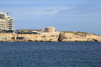 Fort Tigné - The fort as seen from Valletta