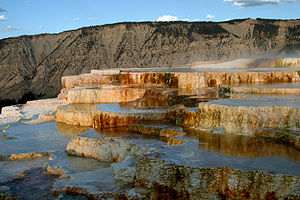 Geology of the United States - Mammoth Hot Springs is evidence of Yellowstone thermal activity