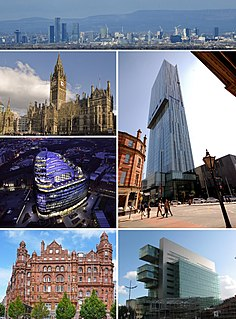 Manchester City and metropolitan borough in England
