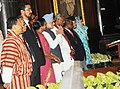 Manmohan Singh with the Speaker, Lok Sabha, Smt. Meira Kumar and the Speakers of Parliaments of SAARC Countries at the inauguration of the Fifth Conference of Association of Speakers and Parliamentarians, at Parliament House.jpg