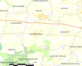Mapa obce Rougemontiers