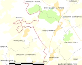 Mapa obce Villers-Vermont