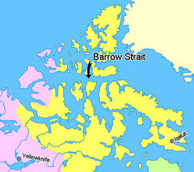Estrecho de barrow wikipedia la enciclopedia libre localizacin del estrecho de barrow nunavut territorios del noroeste regiones no pertenecientes a canada alaska y groenlandia gumiabroncs Images