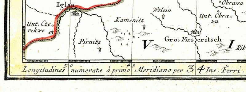 Map of 1746. Longitudines numeratae a Primo Meridiano per Insula Ferri