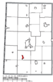 Map of Darke County Ohio Highlighting Wayne Lakes Village.png