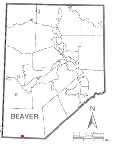 Map of Frankfort Springs, Beaver County, Pennsylvania Highlighted.png