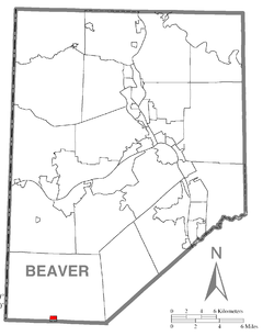 Location in Beaver County