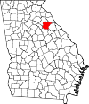 Map of Georgia highlighting Oglethorpe County.svg