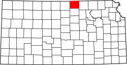 Harta e Republic County në Kansas