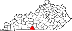 Map of Kentucky highlighting Allen County.svg