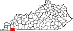 State map highlighting Calloway County