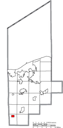Location of Rochester in Lorain County
