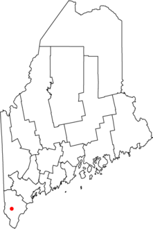 Map of Maine highlighting Sanford.png