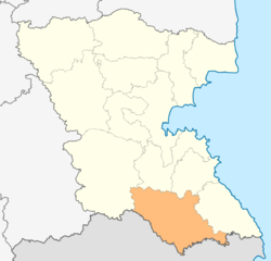 Location in Burgas province Location on map of Bulgaria