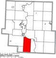 Map of Muskingum County Ohio Highlighting Brush Creek Township.png