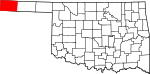 State map highlighting Cimarron County