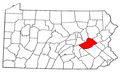 Map of Pennsylvania highlighting Schuylkill County.png