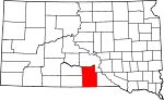 State map highlighting Tripp County