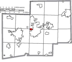 Meyers Lake, Ohio - Image: Map of Stark County Ohio Highlighting Meyers Lake Village