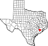 State map highlighting Fort Bend County