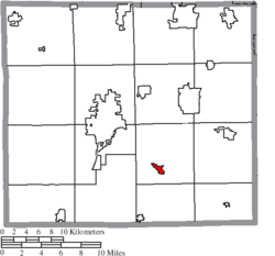 Location of Apple Creek in Wayne County