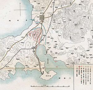 Battle of Nanshan - Japanese map of the Battle of Nanshan