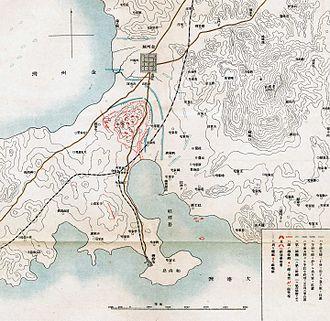Battle of Nanshan - Japanese map of the Battle of Nanshan
