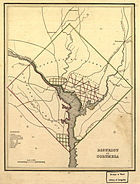 Map of the District of Columbia, 1835