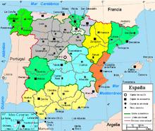Carte Cote Mediterranee Espagne.Espagne Wikipedia