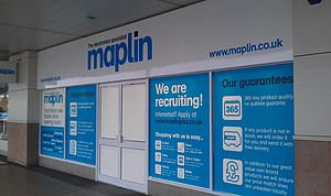 Maplin Electronics - New store at One Stop shopping centre, Perry Barr, Birmingham, a few days before the scheduled opening